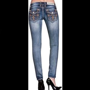 Rock Revival 27x31 Tricia Skinny Jeans Destroyed